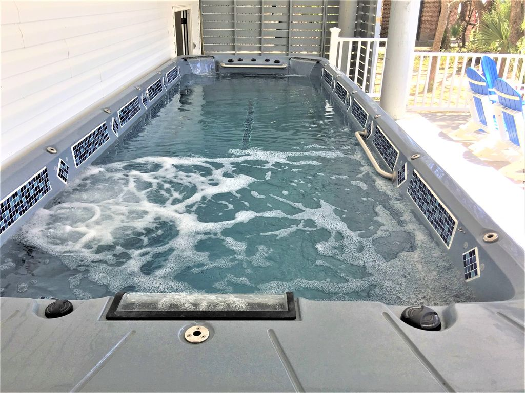 21 Foot Swim Spa!  Heated or cooled, relax or do a workout swim!