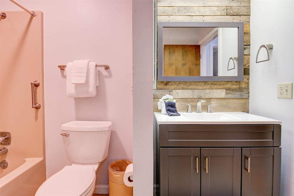 Bathrooms include modern fixtures