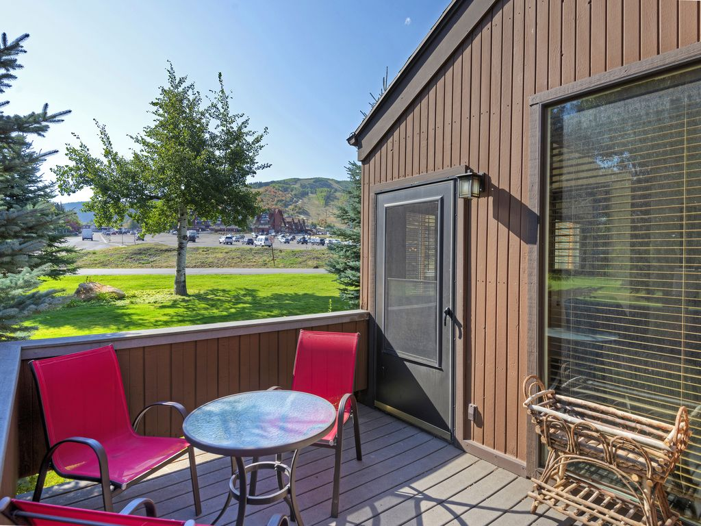 Back patio - vies of Park City Resort and sits on PC Golf Course