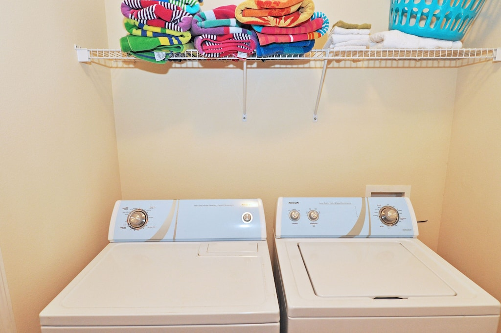 Laundry room inside the house