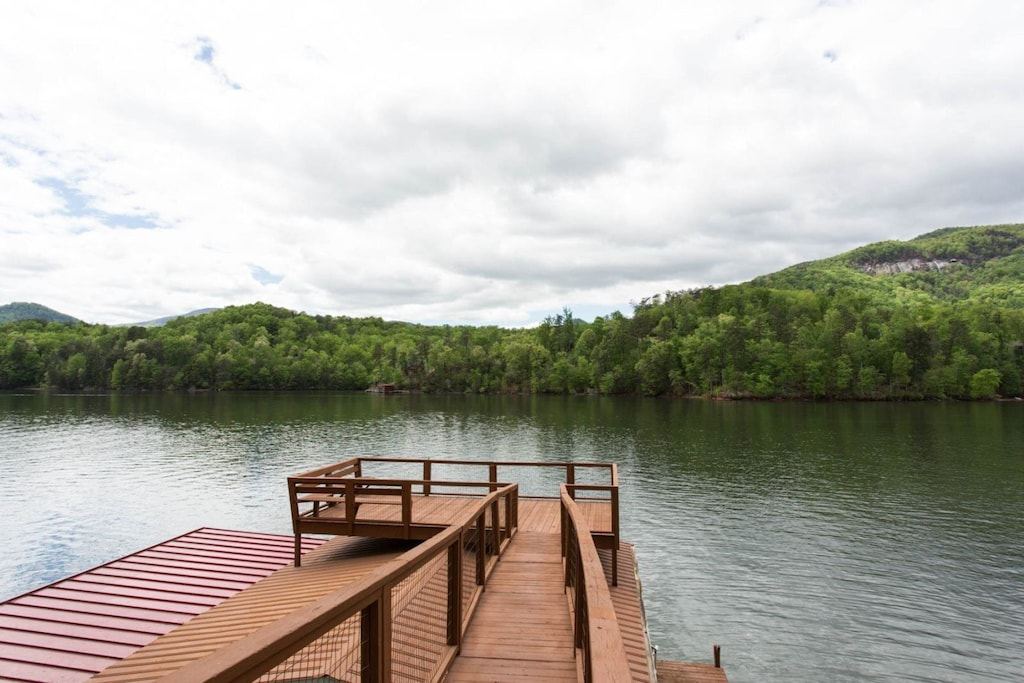 Welcome to the Wallace Lake House, specifically the boat house deck.