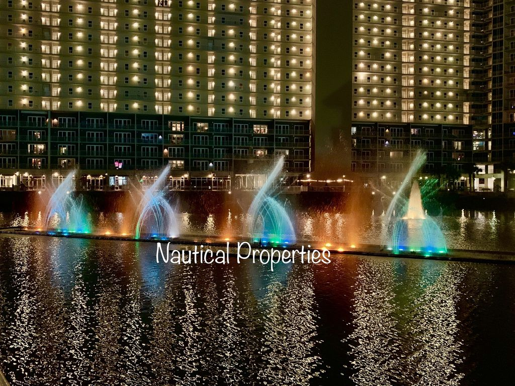 Fountain show each night visible from your balcony