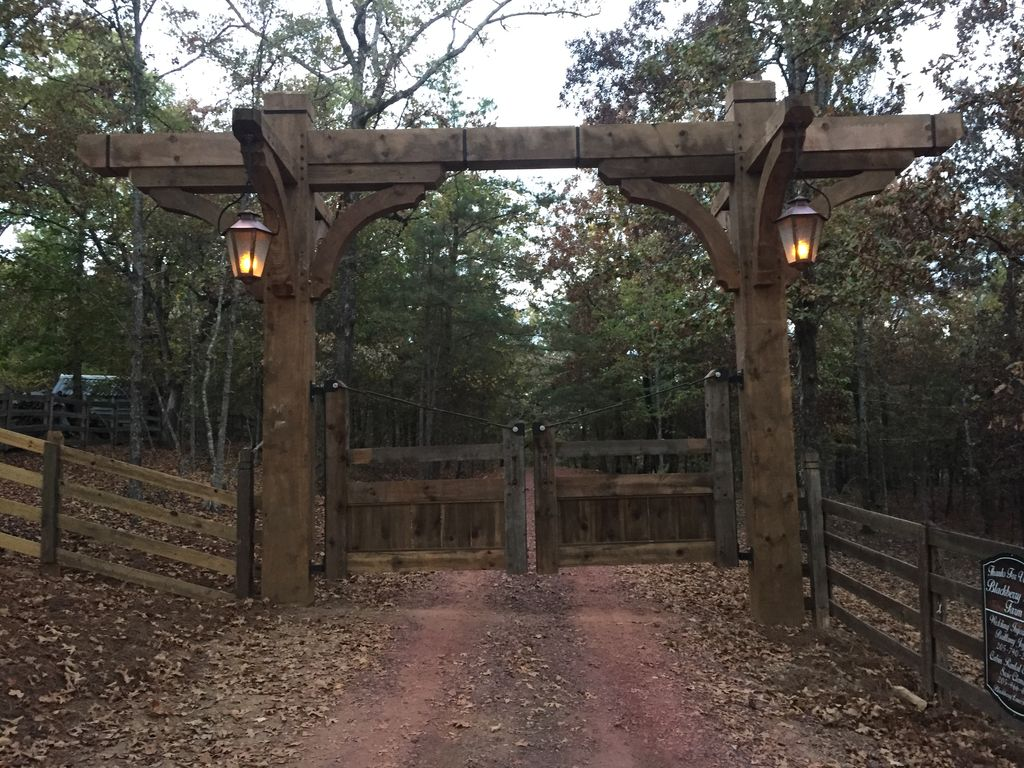 Beautiful entrance to our farm