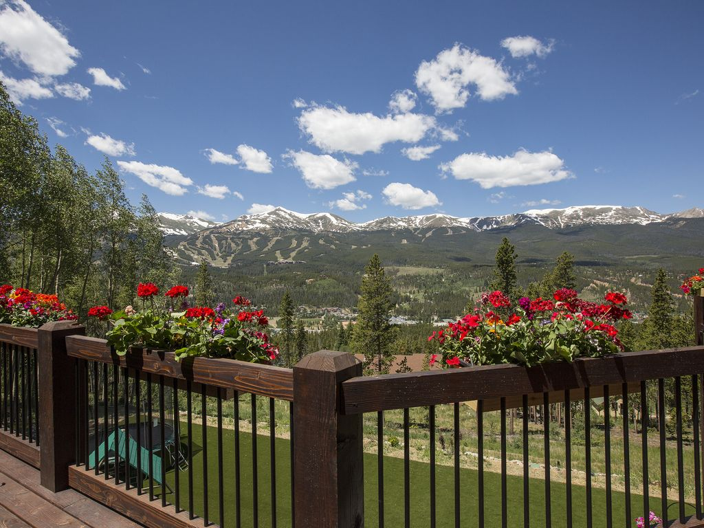 Flowers and views! - From the top floor deck.