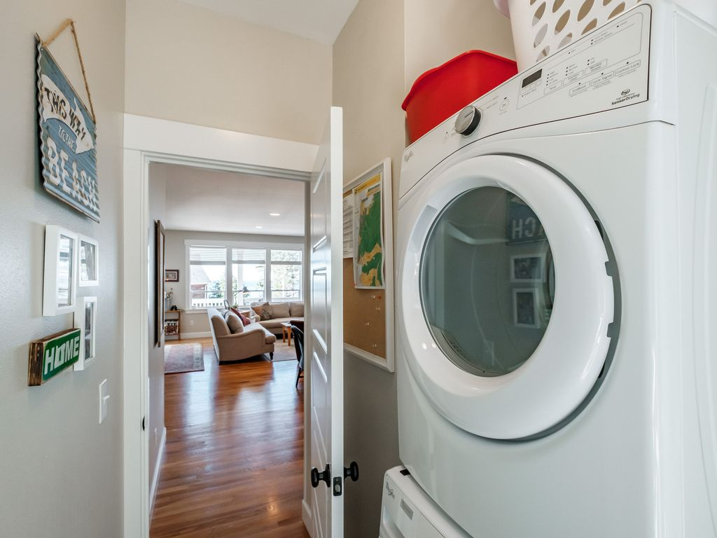 Washer and dryer included in the home for your convenience.
