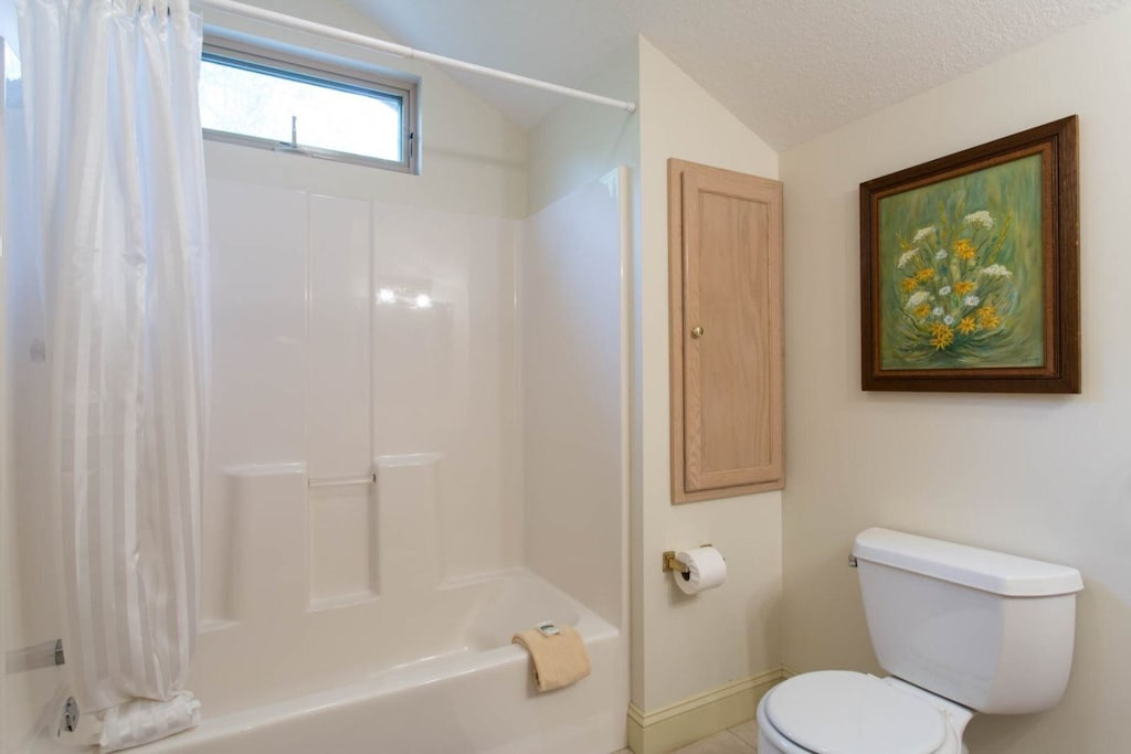 The is a bathtub/shower combination.