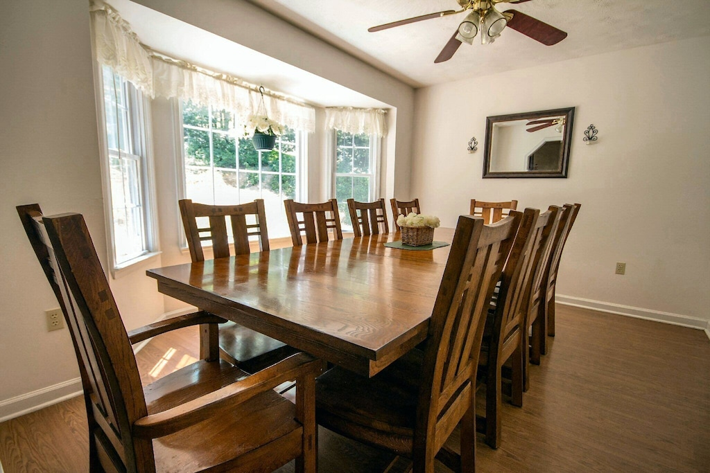 Dining room with other seating nearby