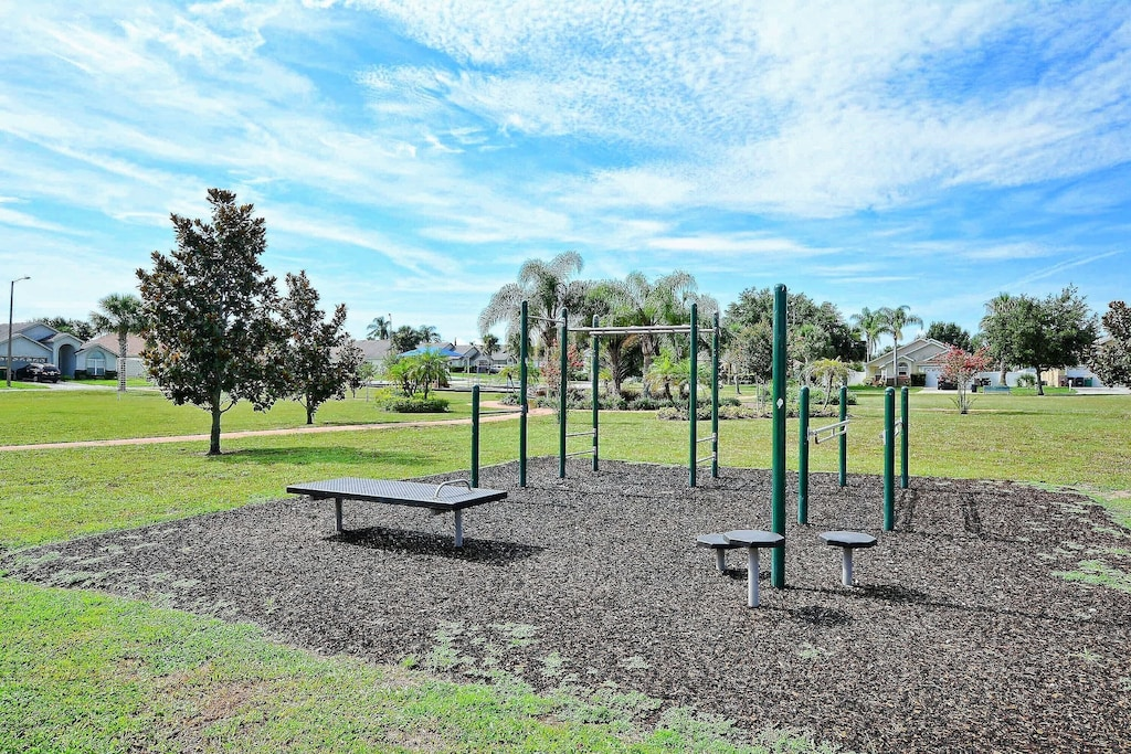 Outdoor exercise area.