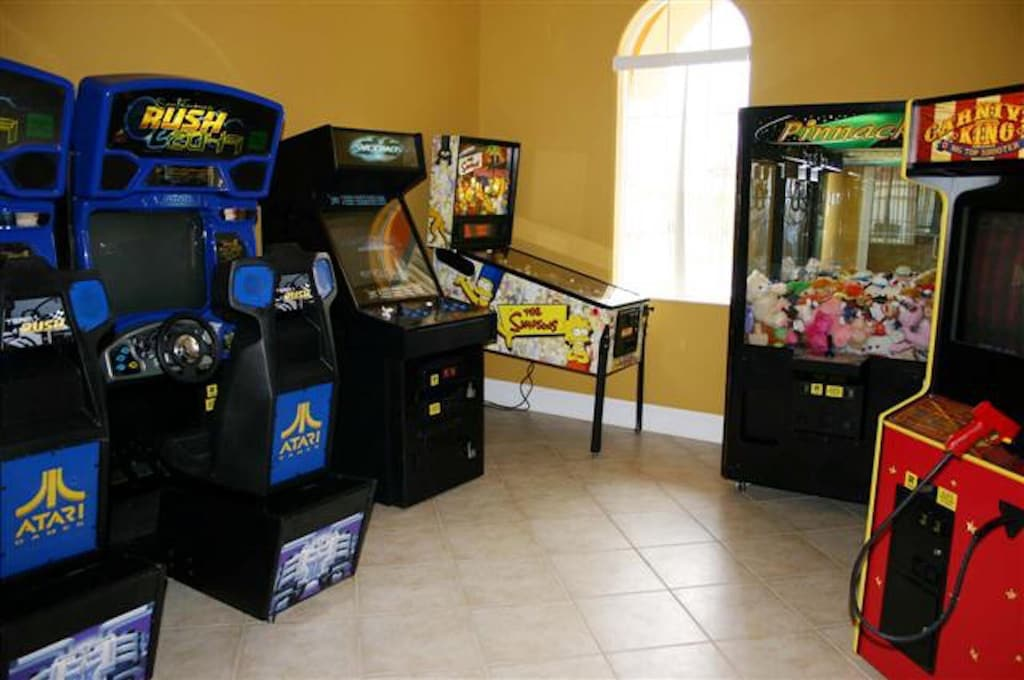 Game room in the clubhouse walking distance to the house