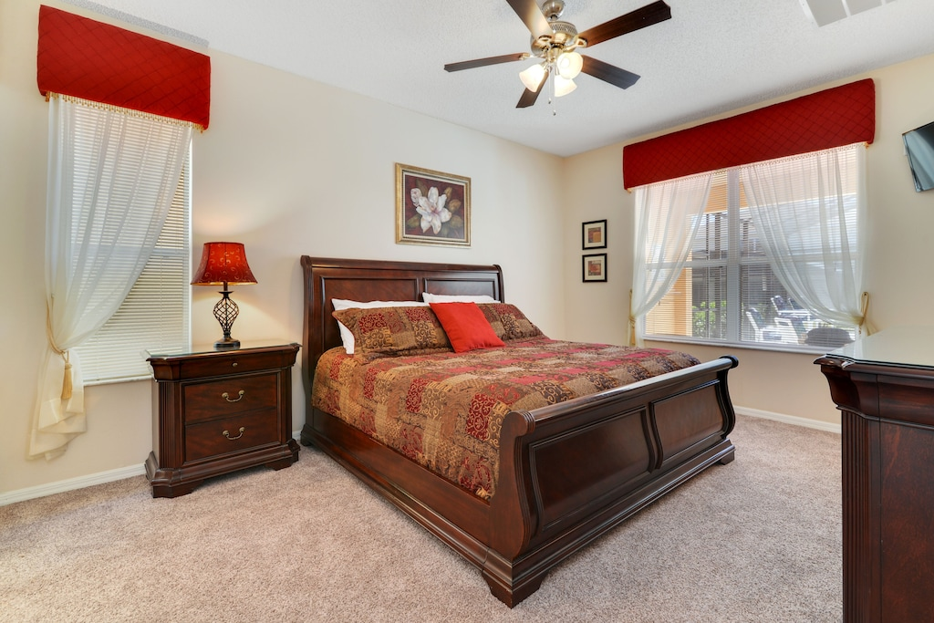 The king master suite.