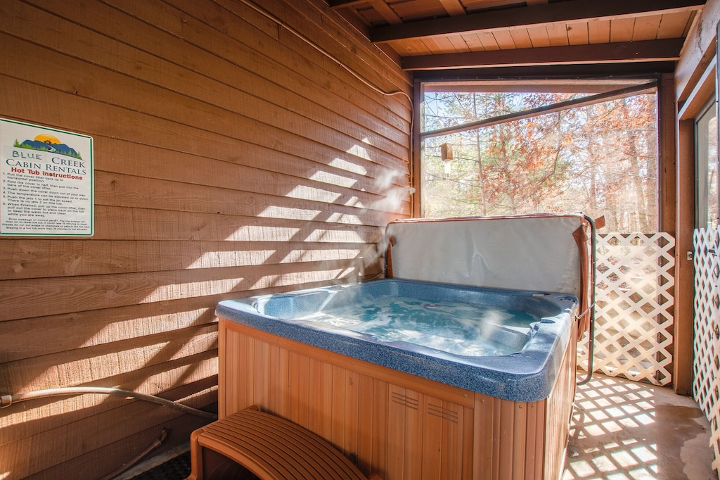 Hot Tub on Screed Porch