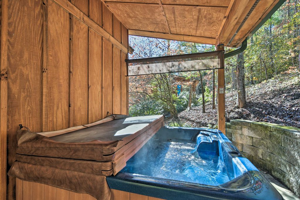 Enjoy the perks of a private, 6-person hot tub!