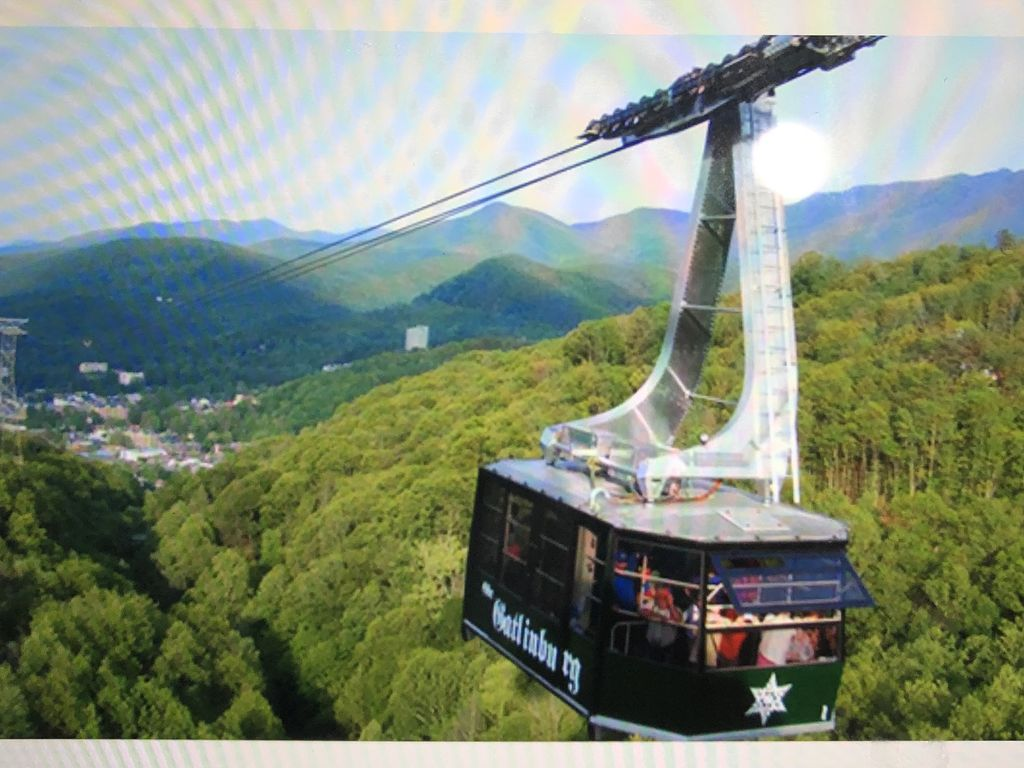 Cable car. Goes from Ober Gatlinburg (five min from house) to downtown G'burg.