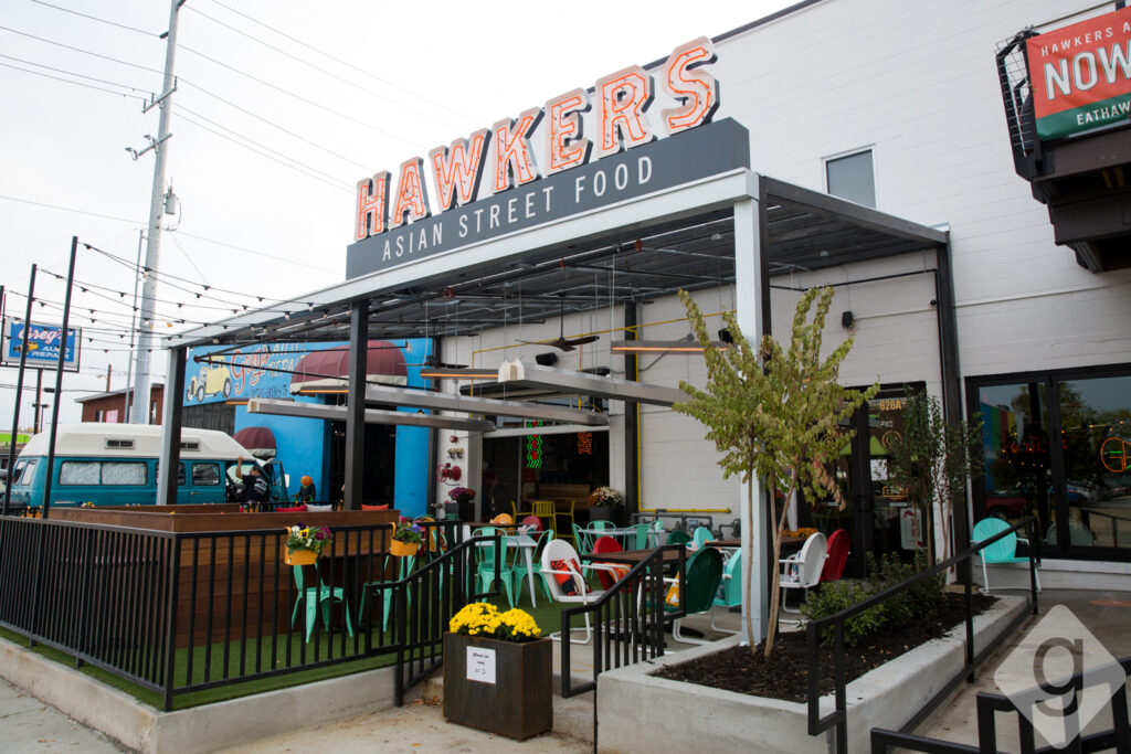 Walk across the street to one of the hottest new restaurants in town- Hawkers Asian Street Food