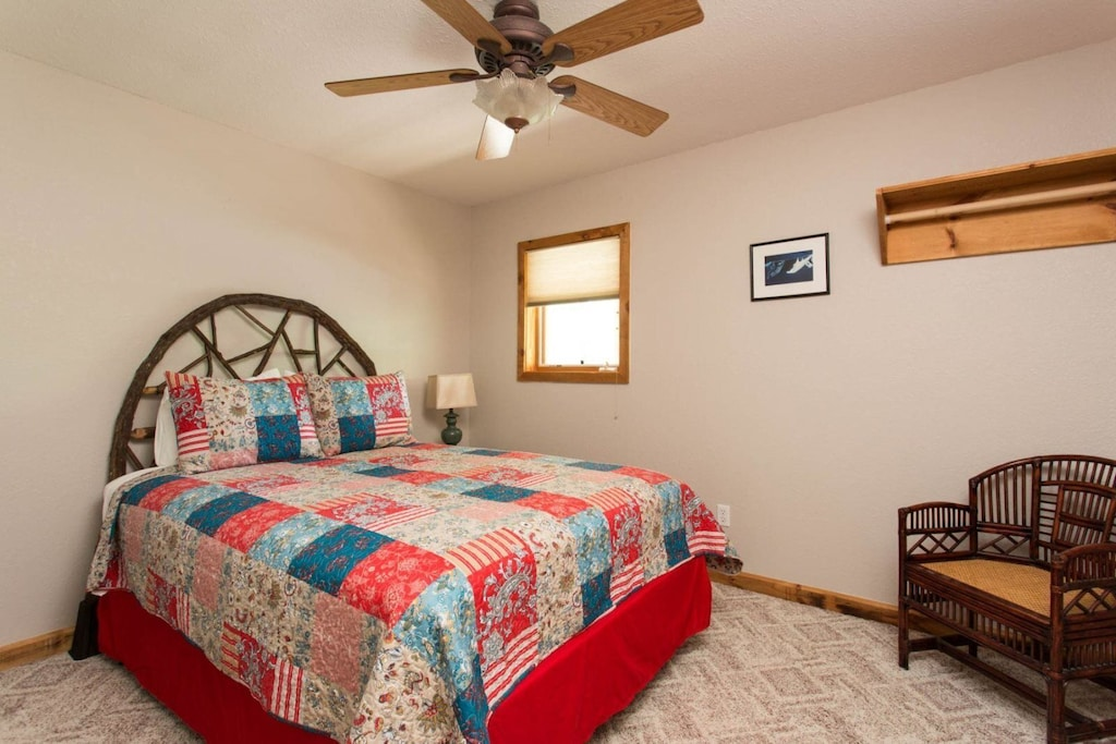 There is a second bedroom on the main level with a queen bed.