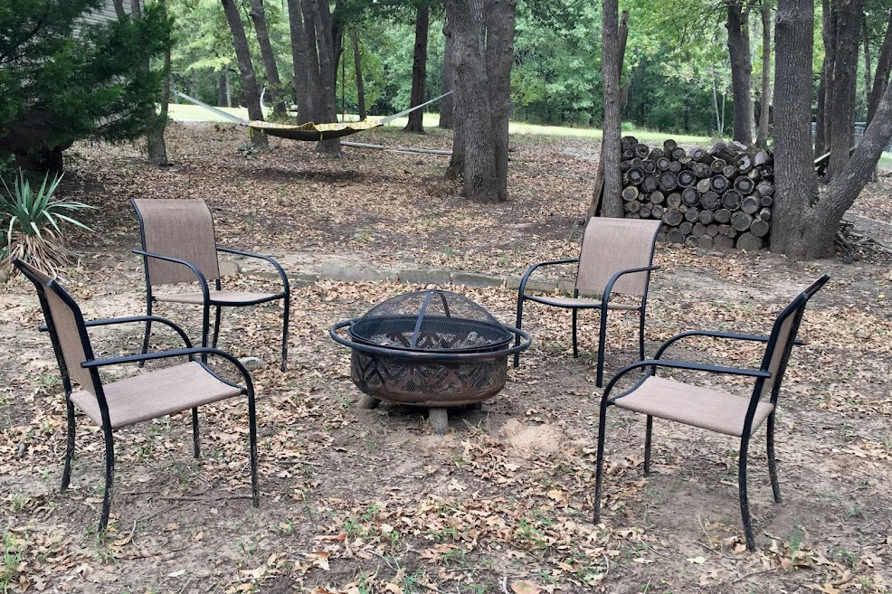 Don't forget the firepit!