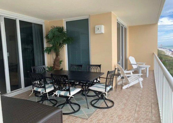 Ample balcony seating