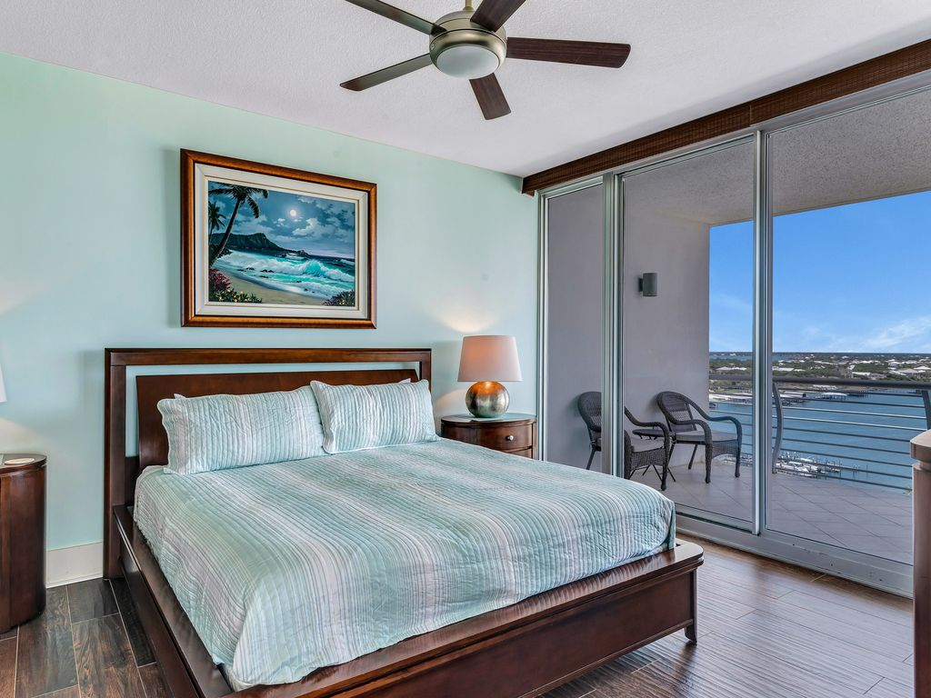 Master Suite with Balcony Access & Bay View