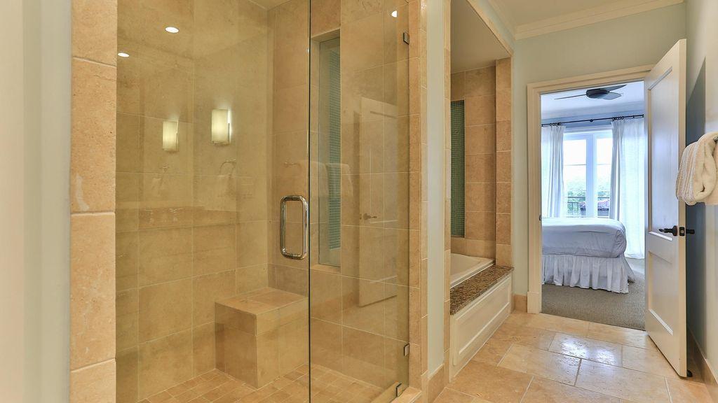 Master Bathroom - Walk-in Shower and Tub.