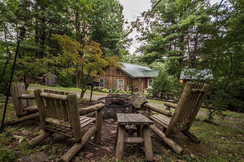 Charming firewood area - firewood provided with every booking!