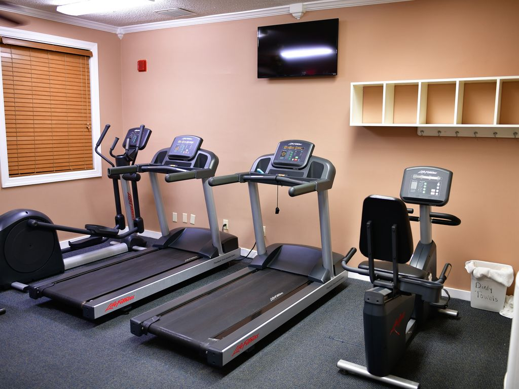 Exercise Room With Treadmill, Stepper & Bicycle