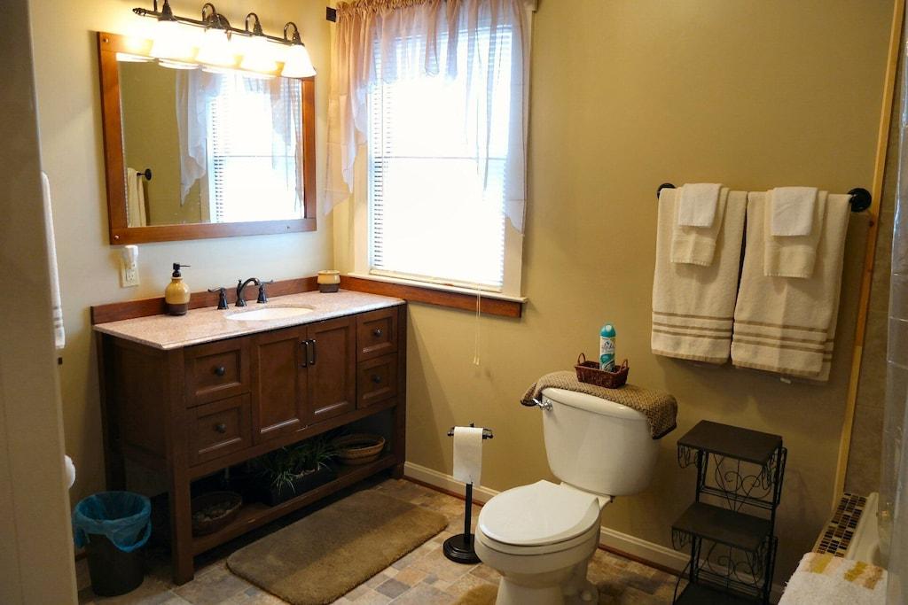Modern bathrooms with modern fixtures