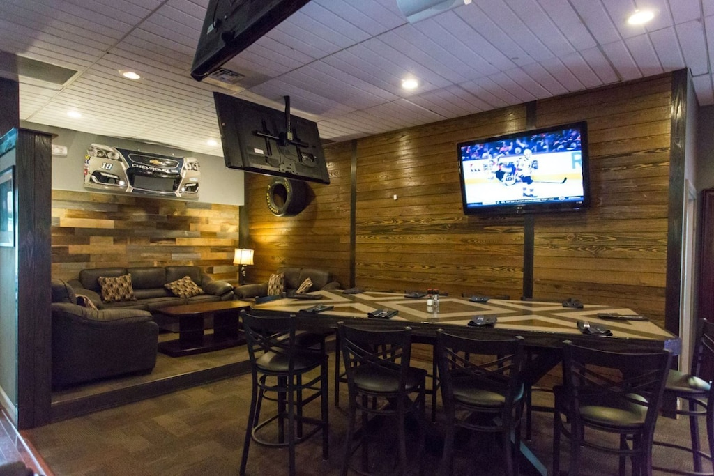 Sit back, relax, and watch your favorite sports in the laid-back atmosphere.