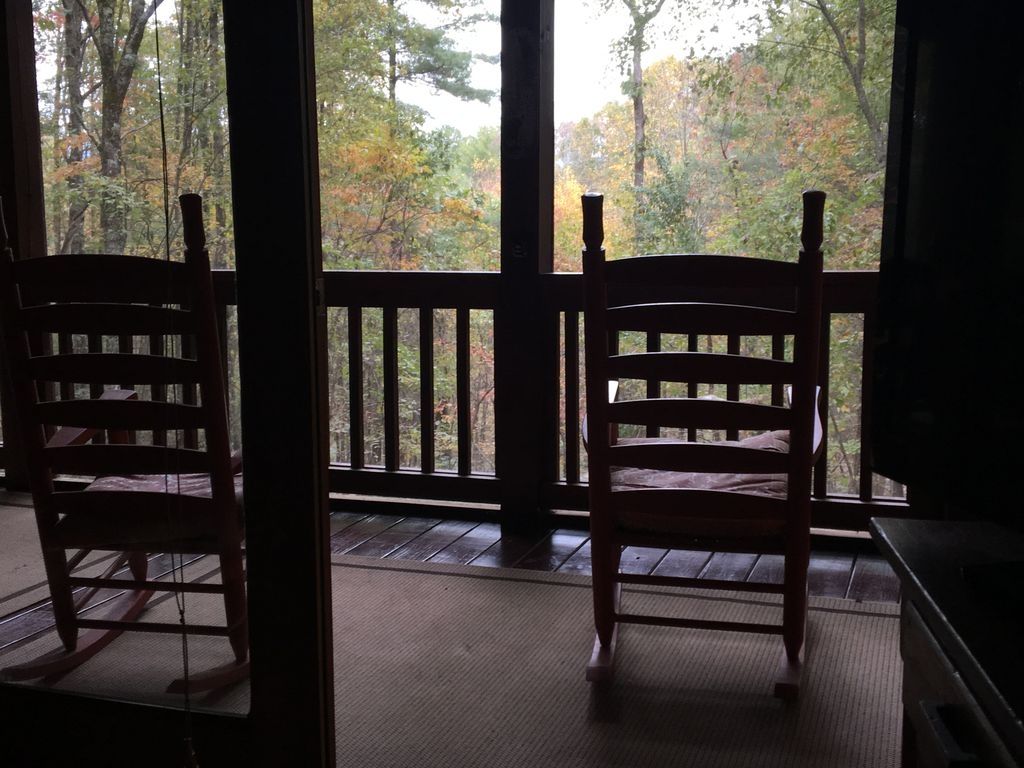 Have your morning coffee on the screened porch