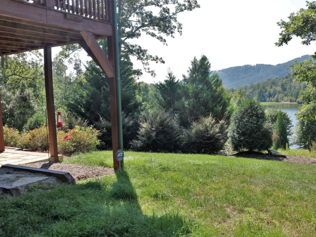 The view from the level and grassy yard.