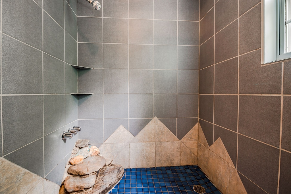 Walk-In Shower for Two with Waterfall