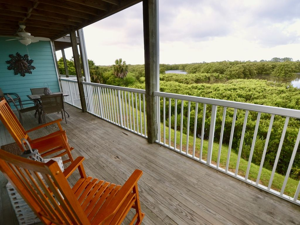 Rocking Chair on outside Deck