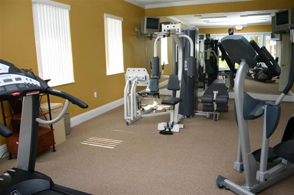 Fitness room in the clubhouse walking distance to the house