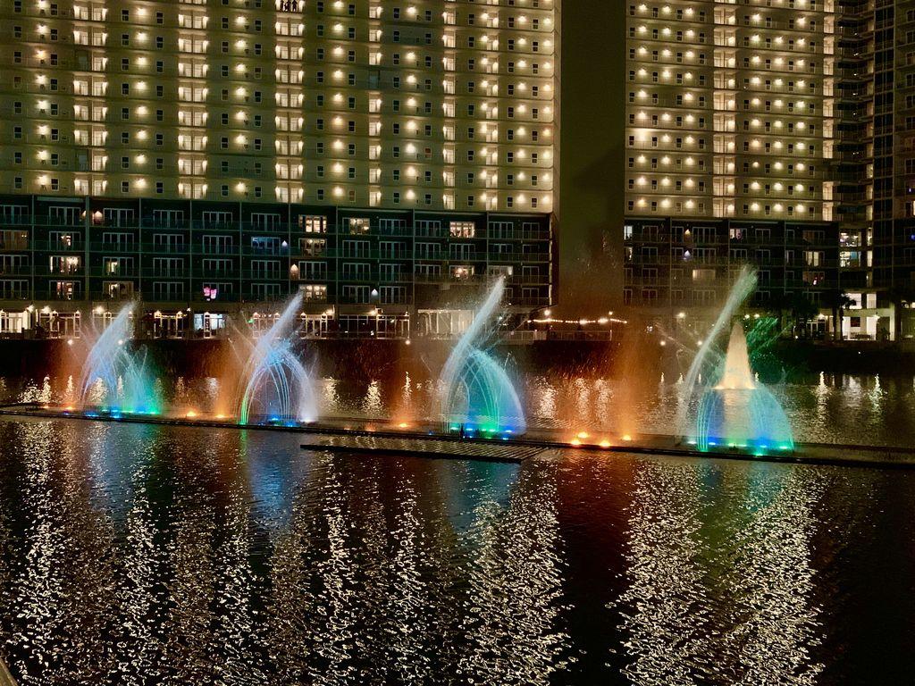 Nightly fountain/music show.