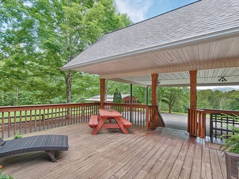 Back deck picnic table and gas grill