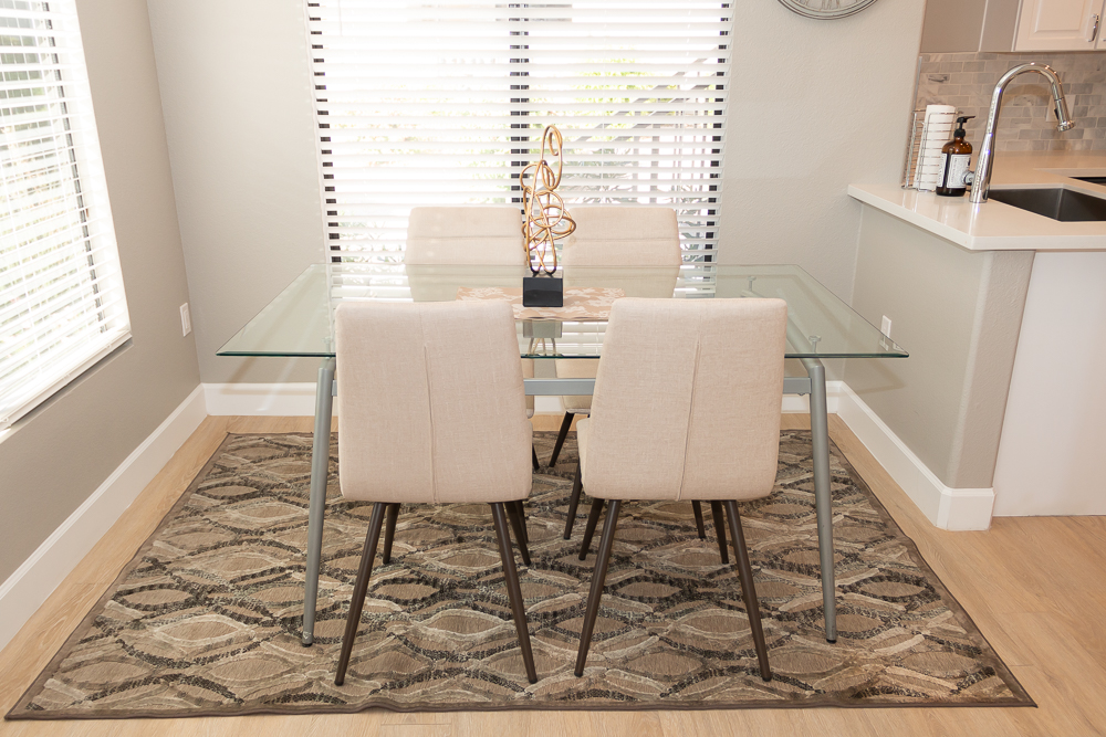Dining Table with seating for four.