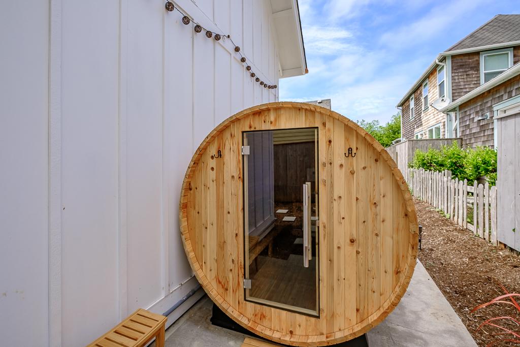 Barrel sauna is a huge bonus.