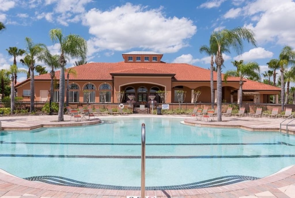 Clubhouse and resort pool