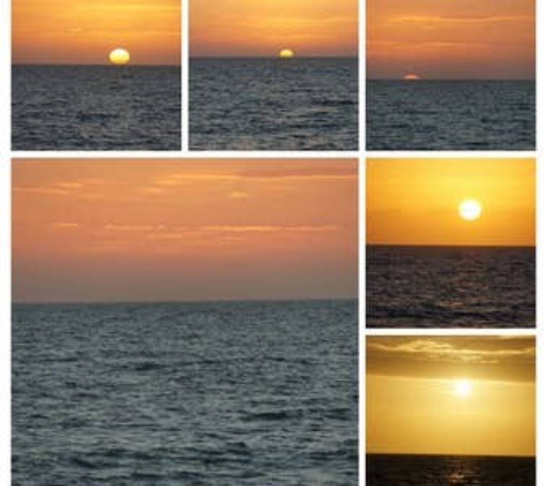 Stunning sunsets over the Gulf of Mexico