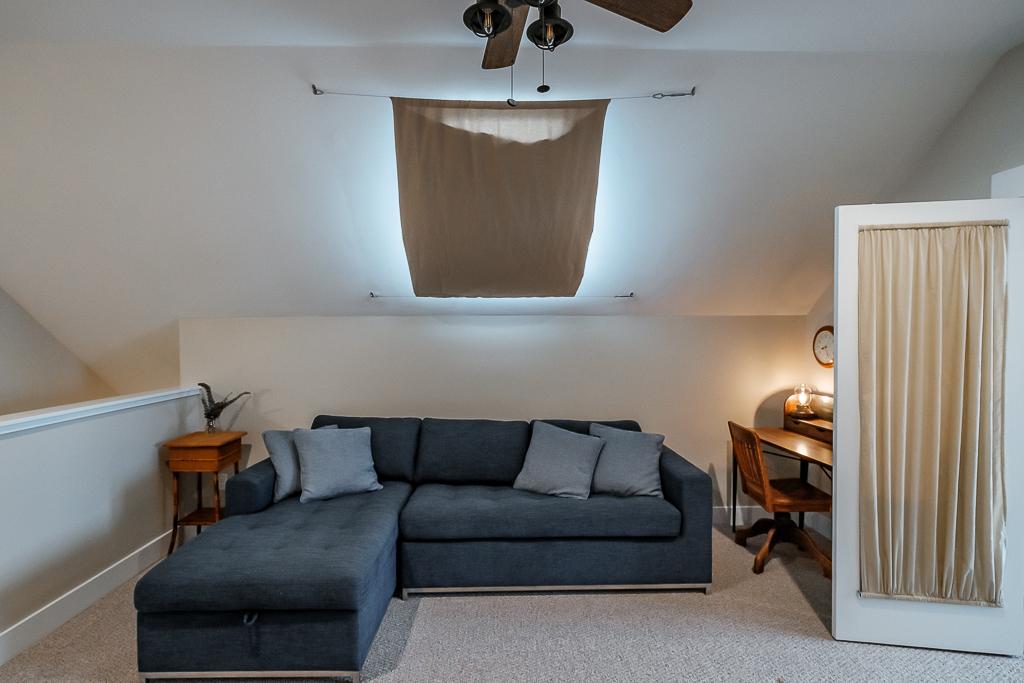 Double sized memory foam sleeper sofa is a bonus as well.