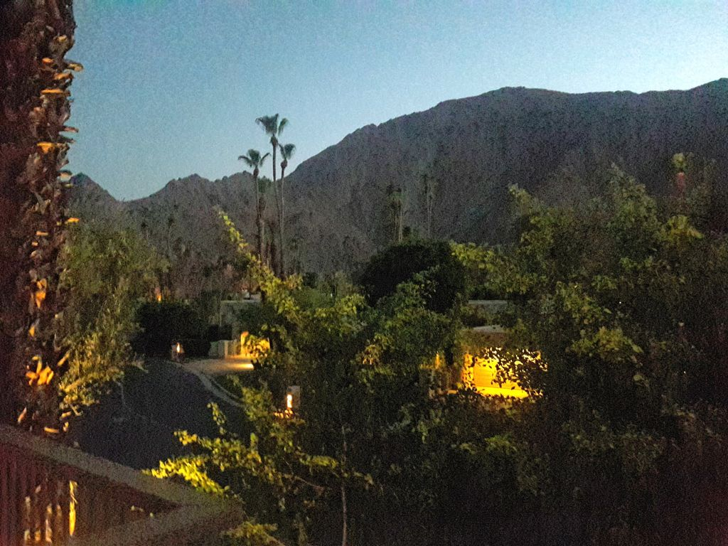 Night time view from deck