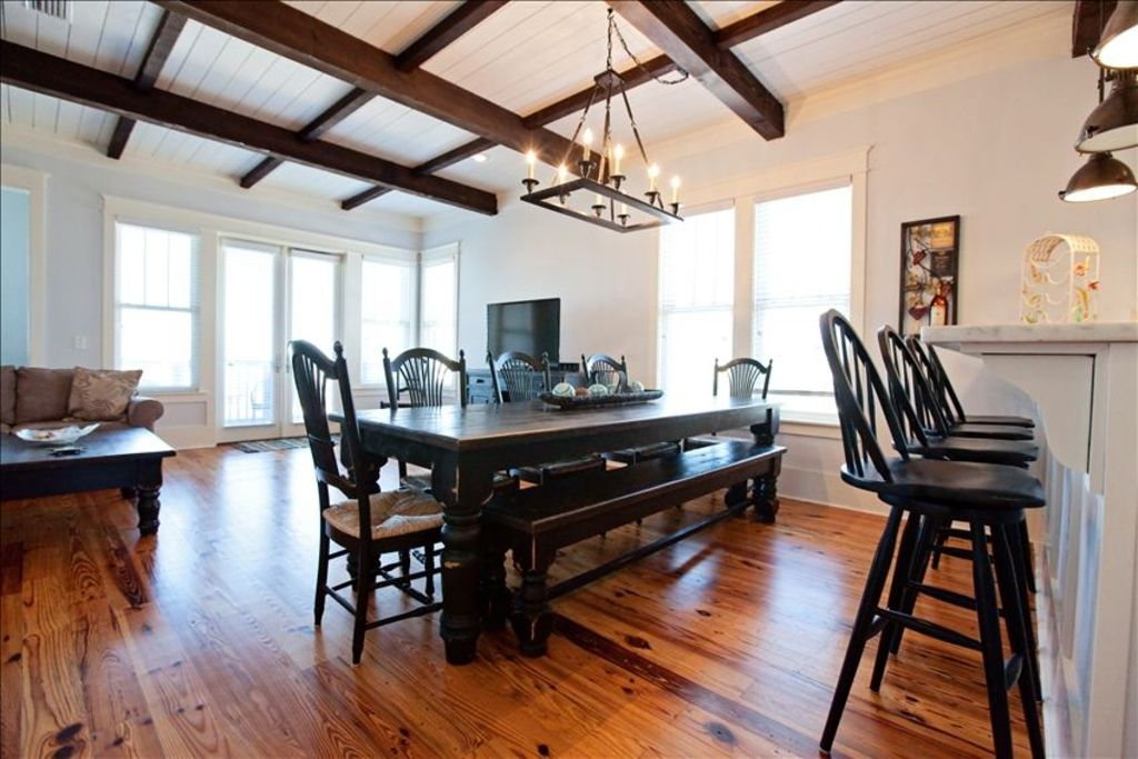 Dining room with table for family gatherings