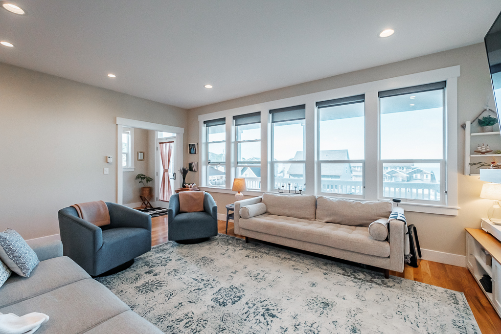 Enjoy spacious ocean views from the main living space.