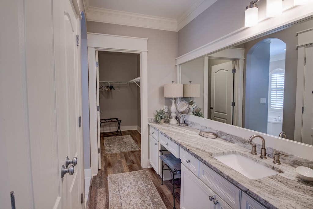 Master dressing area and second vanity.