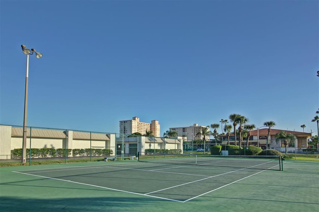 Our Private Lighted Tennis Courts, for Night Play Too!
