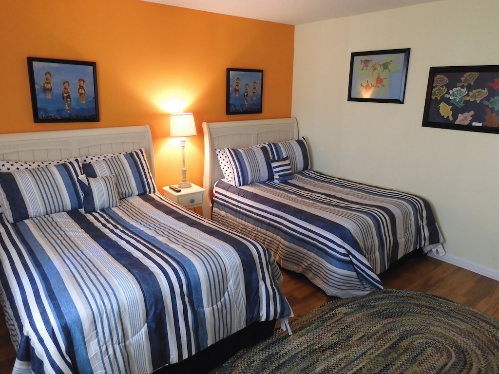 Guest Room w/Two Full Beds, New Laminate Flooring