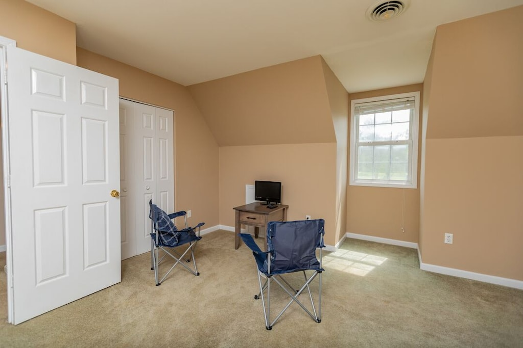 small tv area in 2nd bedroom upstairs