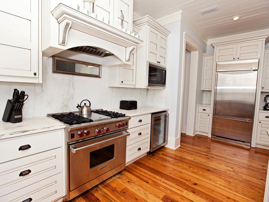 Third floor kitchen.  Marble counter tops.