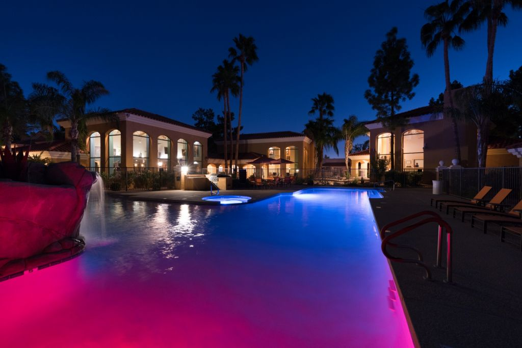 Scottsdale in the evening.