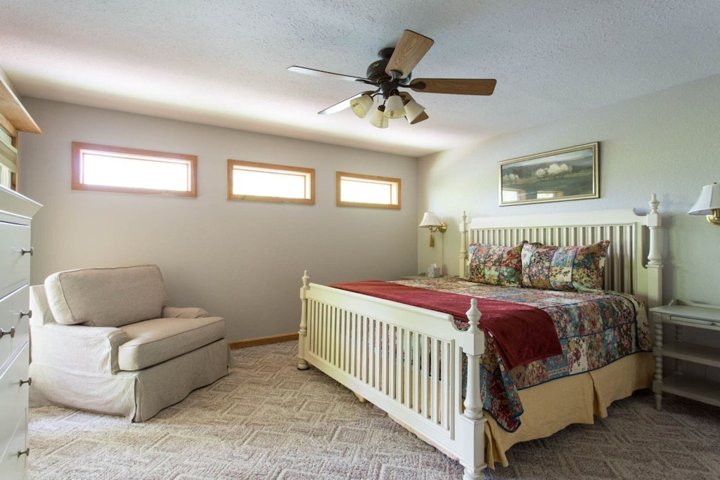 On the main level is a king bed suite.