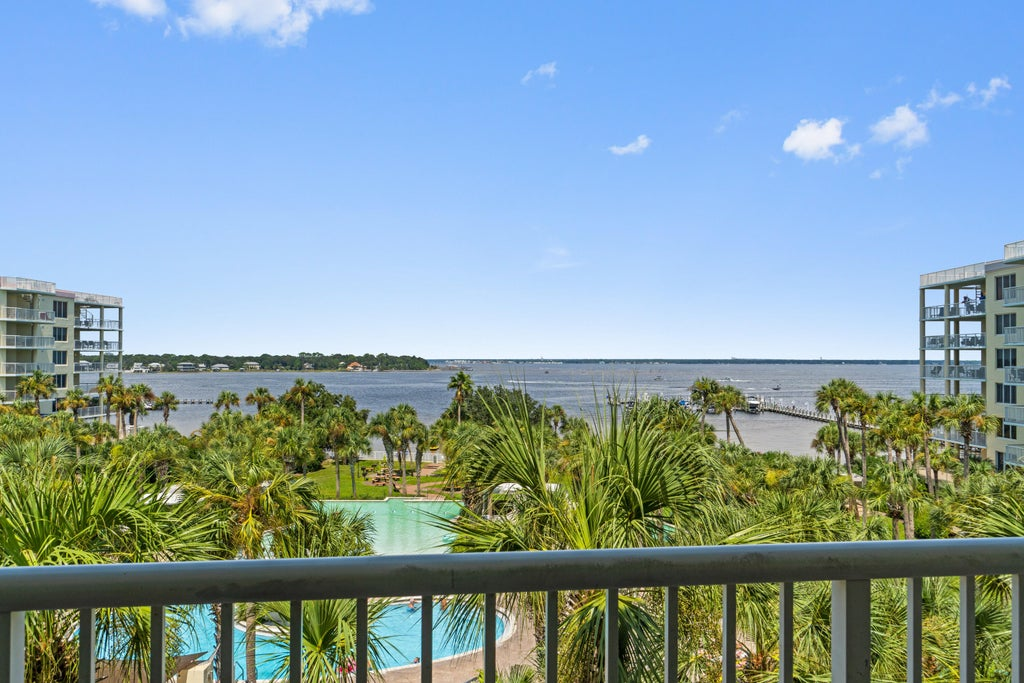 Bay views and lazy river view from patio
